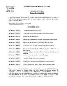 CR Conseil municipal du 16 juin 2020