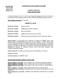 CR Conseil municipal du 28 mai 2020