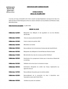 CR Conseil municipal du 10 juillet 2020