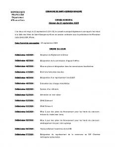 CR Conseil municipal du 22 septembre 2020