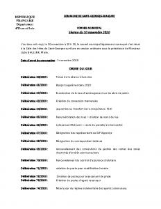 CR Conseil municipal du 10 novembre 2020
