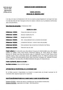 CR Conseil municipal du 15 décembre 2020