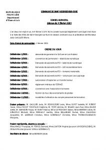 CR Conseil municipal du 9 février 2021