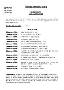 CR Conseil municipal du 25 mai 2021